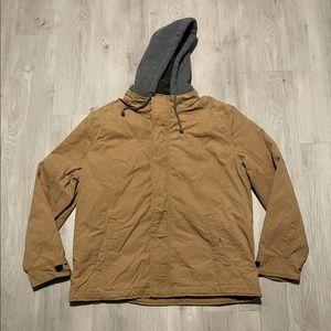 American Eagle Tan Canvas Workwear Flannel Jacket